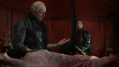 Tywin Lannister despiezando el venado - Juego de Tronos en los siete reinos