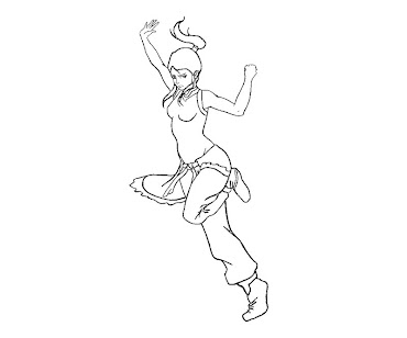 #14 Korra Coloring Page