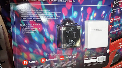 Ion Party On Compact Wireless Bluetooth Speaker with Party Lights connects via Wireless Bluetooth