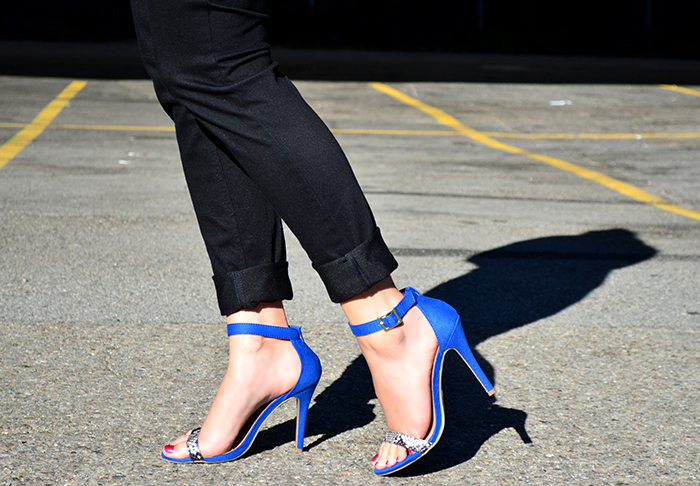 ankle strap heels with pants