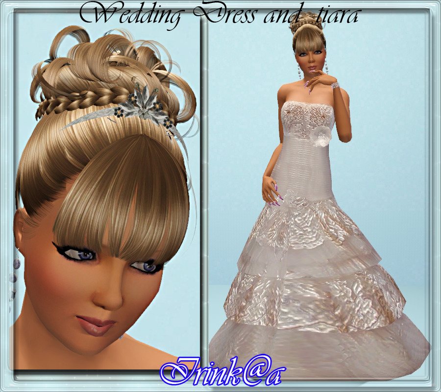 My Sims 3 Blog: Wedding Dress and Tiara by Irink@a