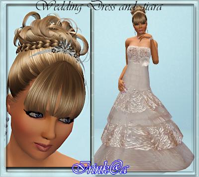 Wedding Dress and Tiara by Irink@a Wedding+Dress+and+tiara+by+Irink%2540a
