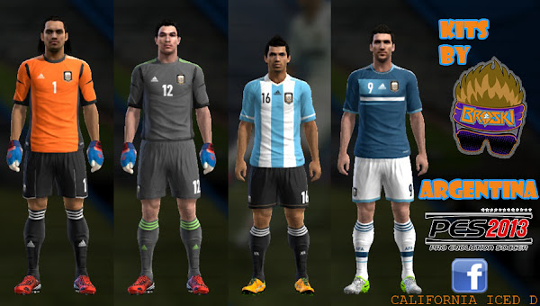 PES 2013 Argentina 2012/13 Kits by BROSKI
