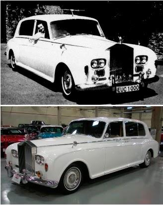 60x50: john lennon's white rolls-royce . . . and its phantom double