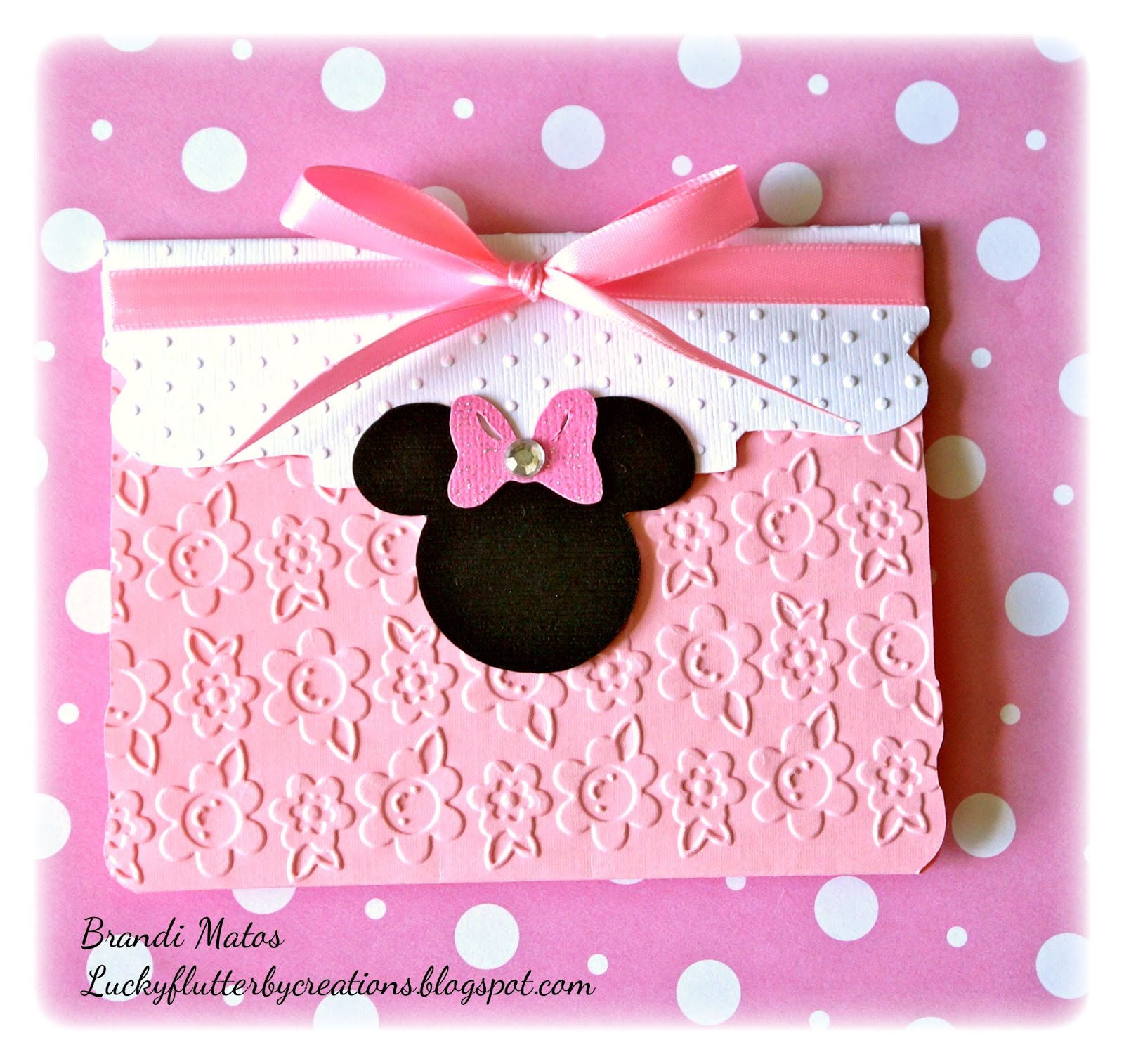 Lucky Flutterby Creations Handmade Minnie Mouse Invitations