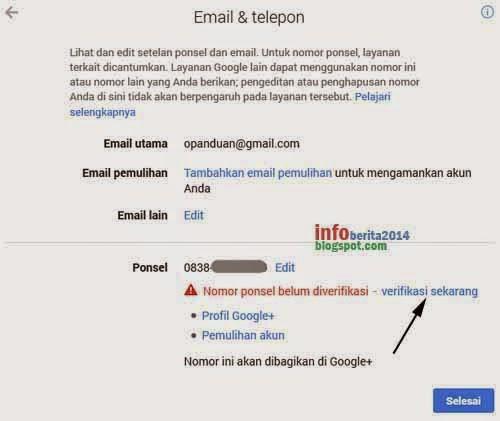 verifikasi nomor hp di akun google part 3