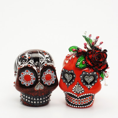 Day Of The Dead Skull Lover Dia De Los Muerto Skull Wedding Cake Topper