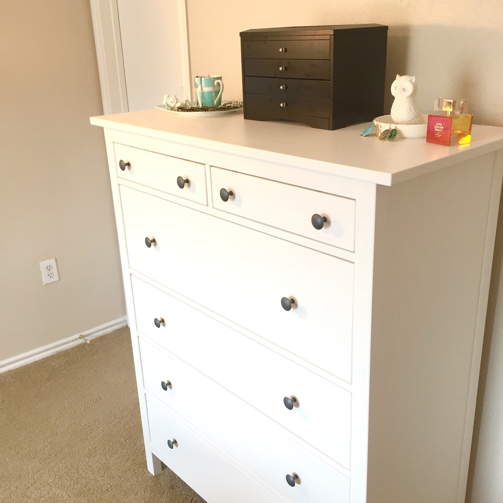Ikea Hemnes Frisiertisch Mit Spiegel Weiß ~ Lavender Lady's Look book Ikea Hemnes 6 Drawer Chest Review