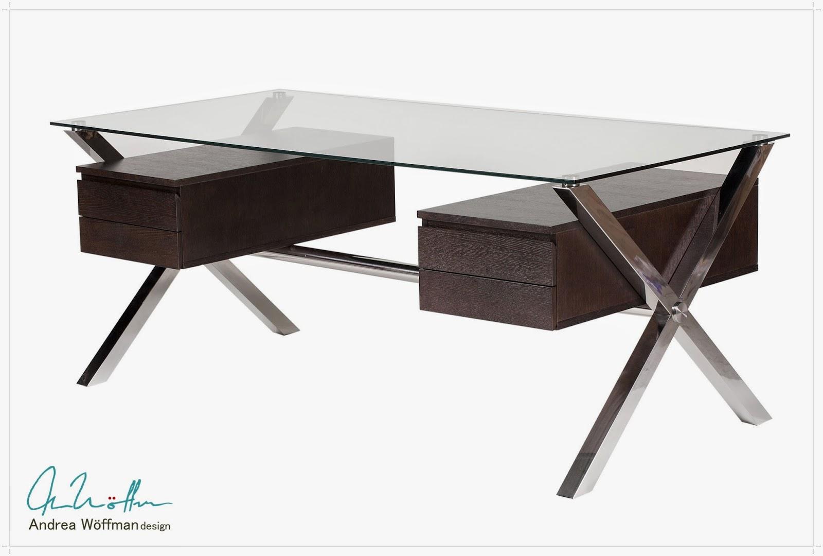 y productos andrea wffman escritorio moderno metal vidrio y madera