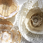 DIY doily bowls