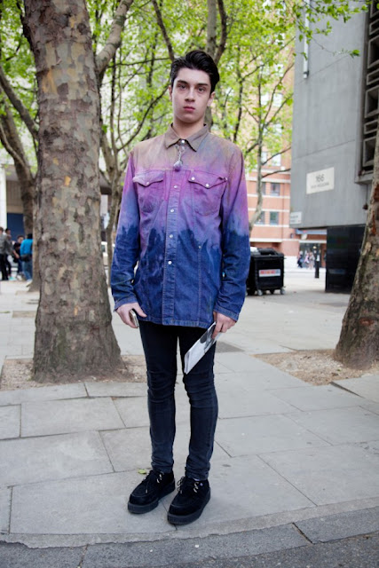 street style london collections men menswear ragged priest dip dye shirt