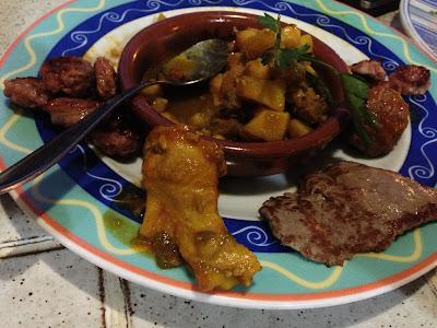 The tapas combinados at Bar Tapas Caleta de Fuste