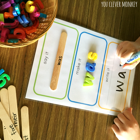 Ways To Write Words say it, make it, write it mats - how to use them six different