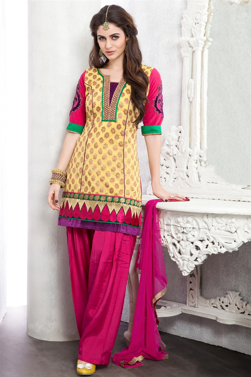 Punjabi Suits Neck Design 2014 Party Wear New Fasion Designs 3d Images Design By Ritu Beri