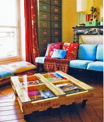 Mesa de centro de pallet casa com pallet - Mesa centro palet ...
