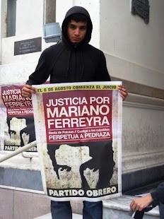 FEDERICO GARCÍA, ESTUDIANTE, TAMBIÉN PIDE JUSTICIA POR MARIANO