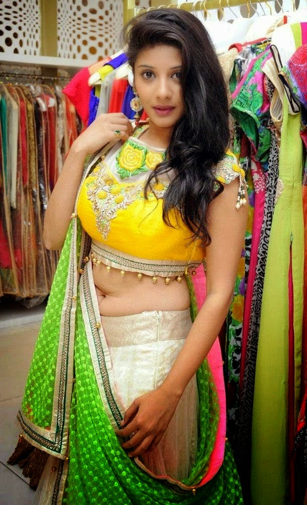 Shruthi in Half Saree Hot Spicy Navel Photos