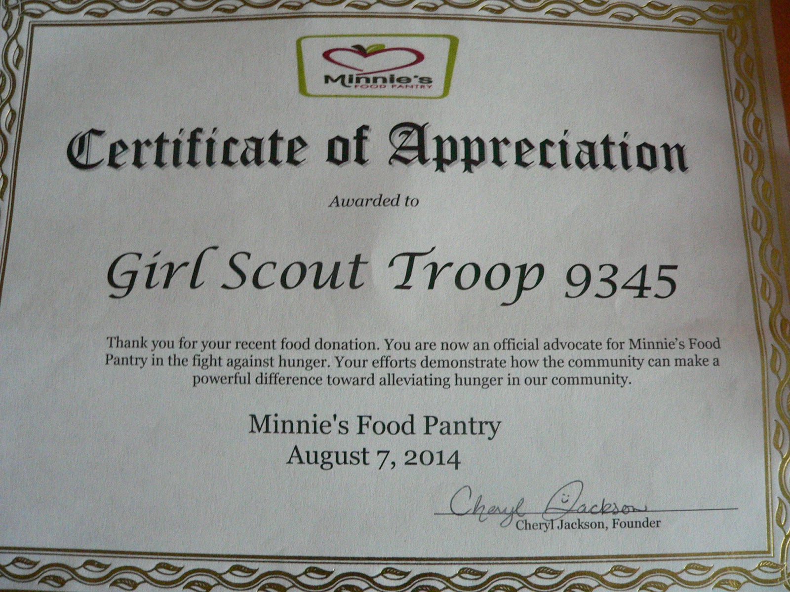 Janice rotich of girl scout troop 9345s silver award blog yelopaper Gallery