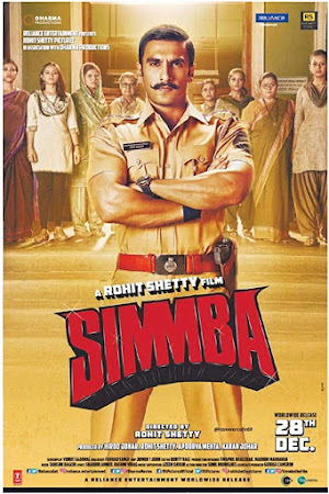 Poster Of Hindi Movie Simmba 2018 Full HD Movie Free Download 720P Watch Online