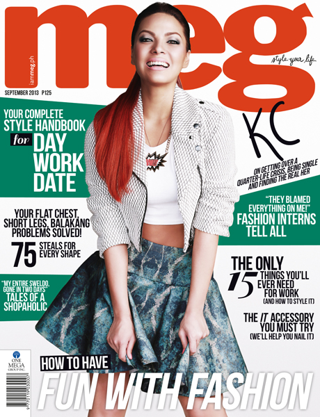 KC Concepcion Covers Meg Magazine September 2013 Issue