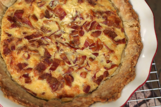 Brie  and Bacon Quiche, CAbi, Walnut & Apple Coffee Cake,