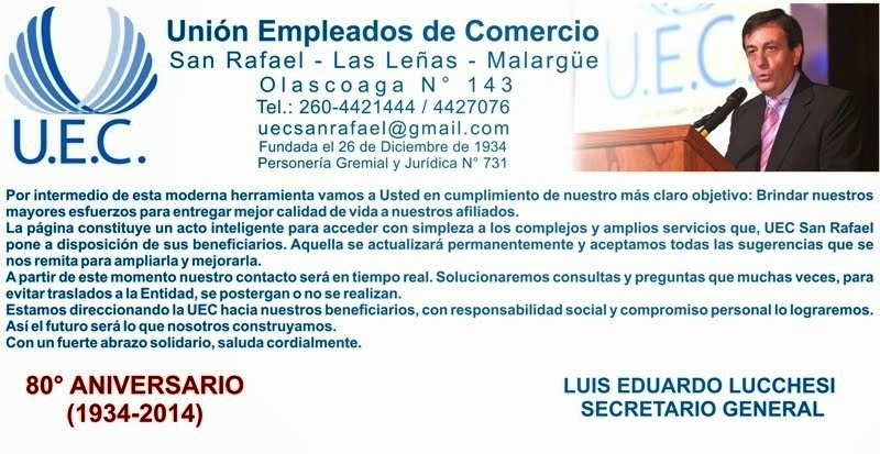 Unión Empleados de Comercio San Rafael - Las Leñas - Malargüe - Mendoza - República Argentina