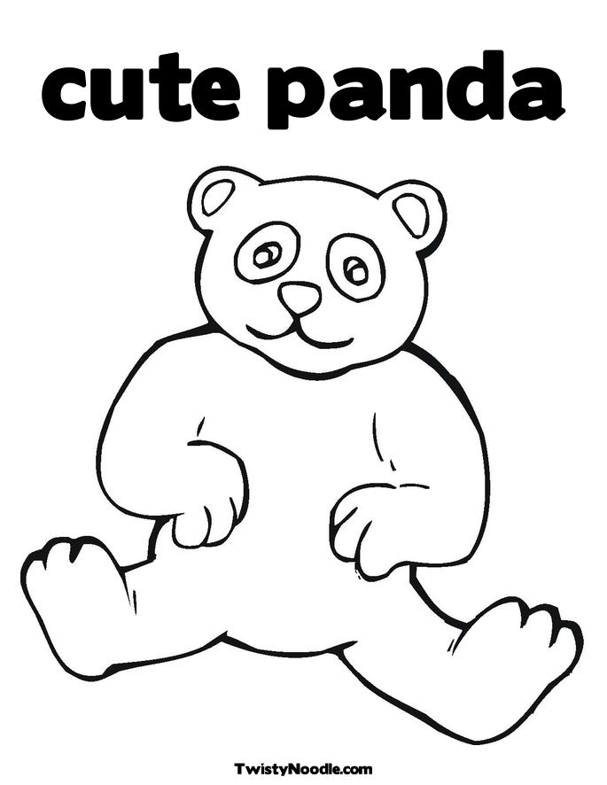 printable giant panda coloring pages - photo#30