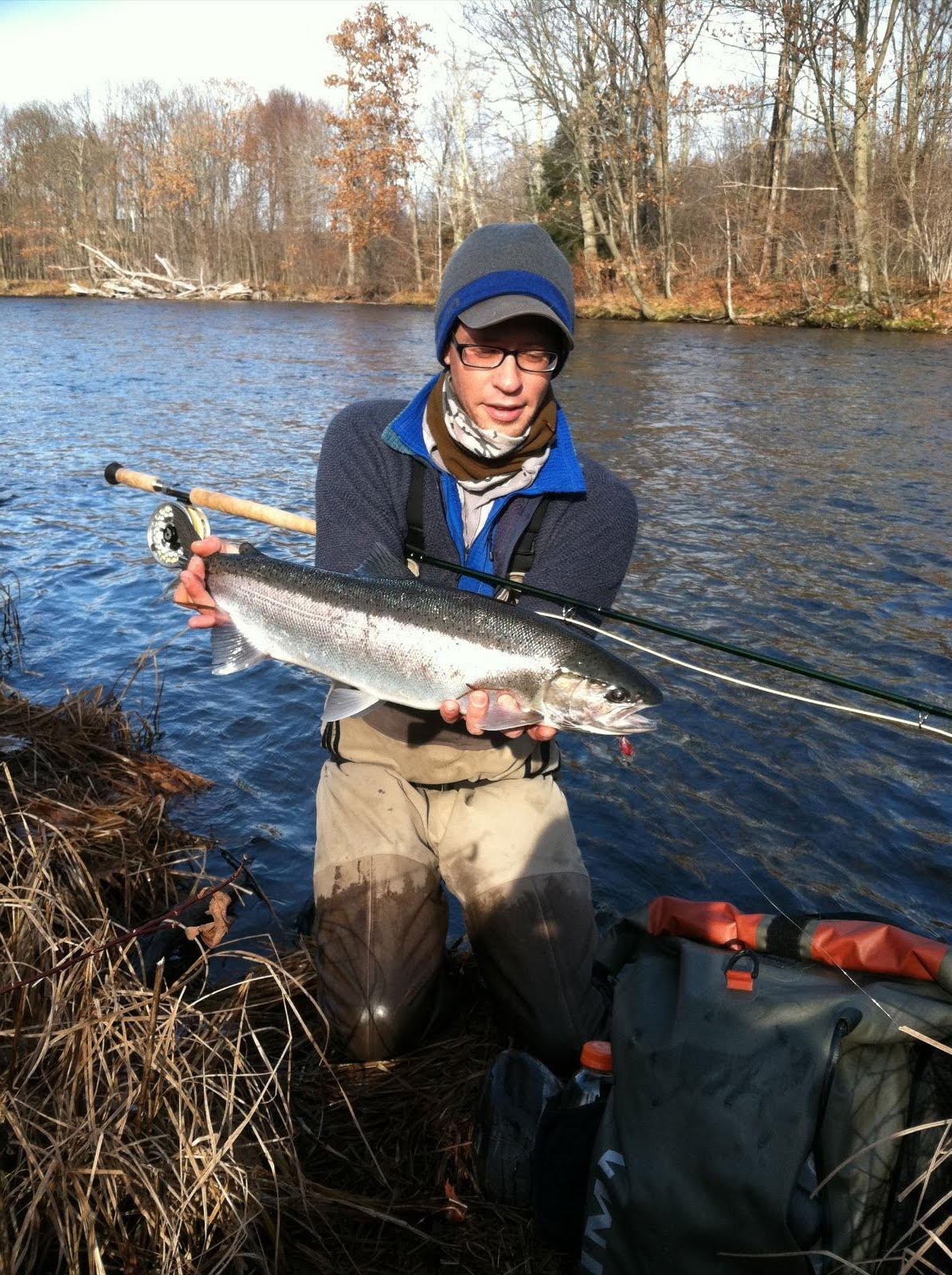 Chagrin river outfitters happy holidays fishing report for Salmon river fishing reports