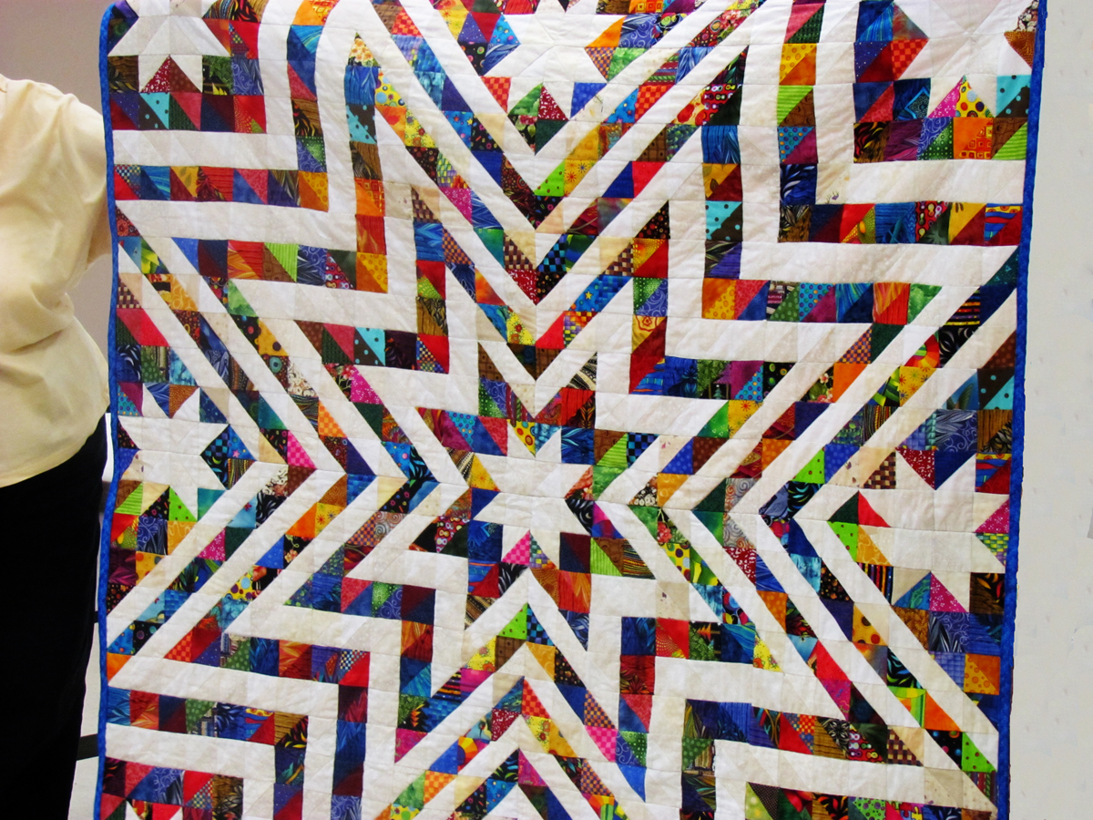 North Louisiana Quilters Half Square Triangles Tried