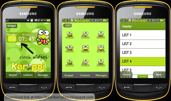 Download Tema Samsung Corb 2 Keroppi 2