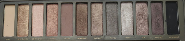 a picture of Urban Decay Naked Palette (comparison) ; Naked 2