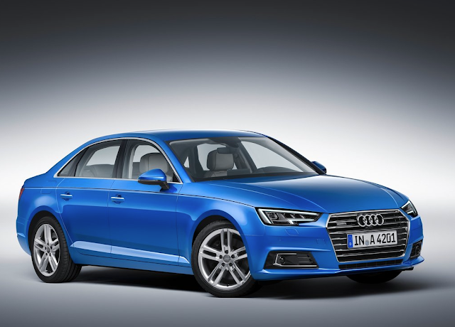 2017 Audi A4 front blue