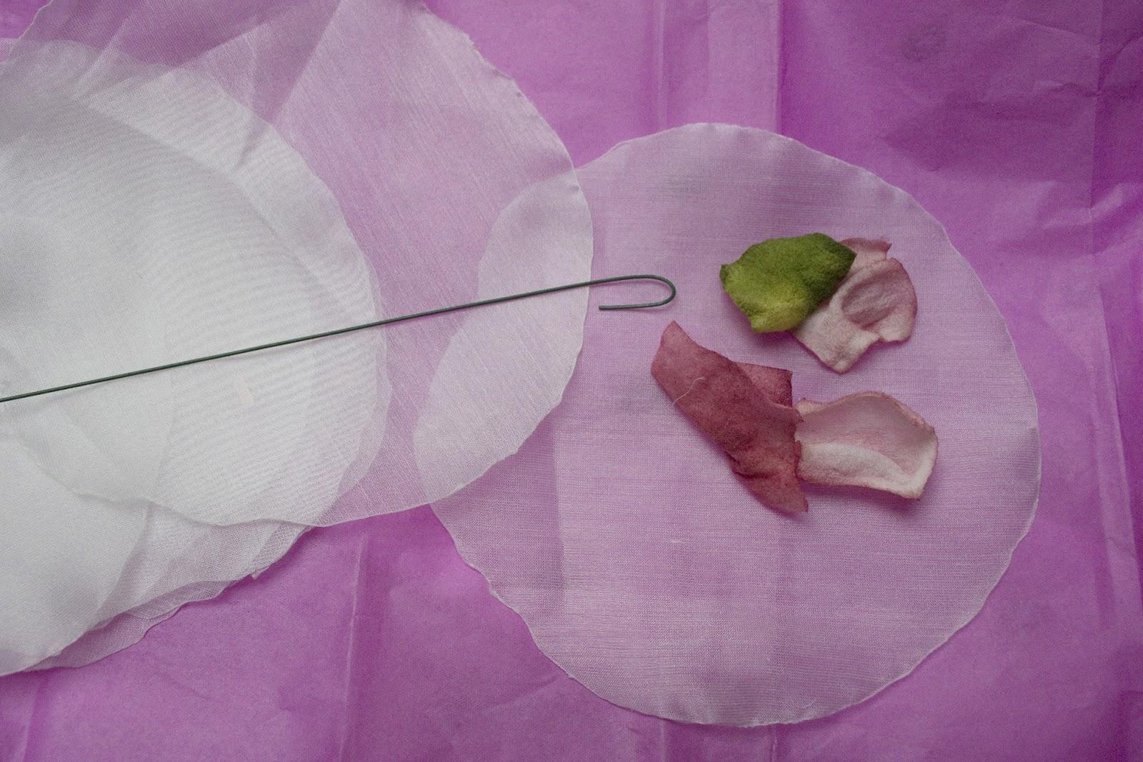 Queenofcuffs Making A Fabric Flower Bouquet