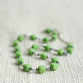 green olive leaf necklace