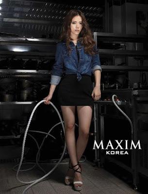 FOTO SEKSI ARTIS KOREA DI MAJALAH MAXIM