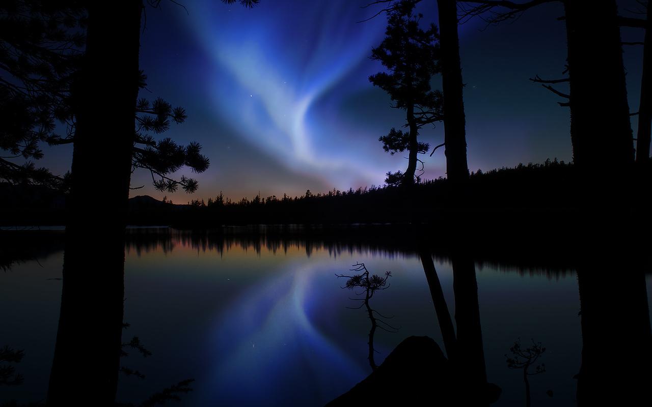 purple aurora borealis wallpapers x - photo #48