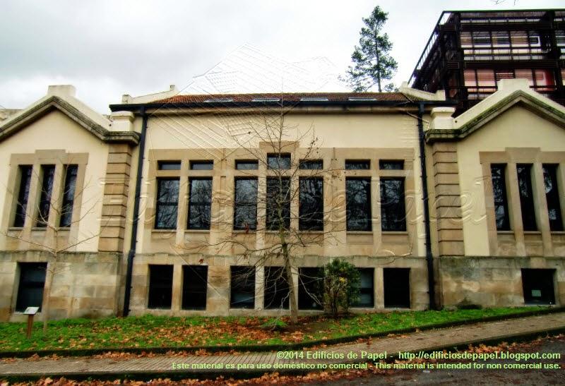 Antiguo pabellón del Hospital, hoy parte del Campus de Orense