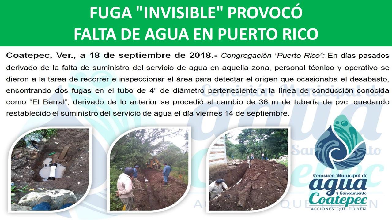 FALTA DE AGUA EN PUERTO RICO