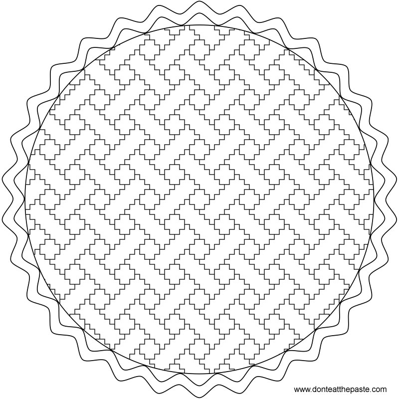 Pie coloring page or embroidery pattern- also available as a transparent PNG #PiDay #coloring