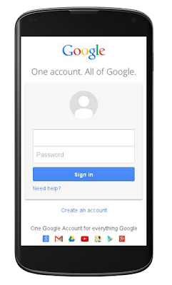 Google Account new Login Page on mobiles
