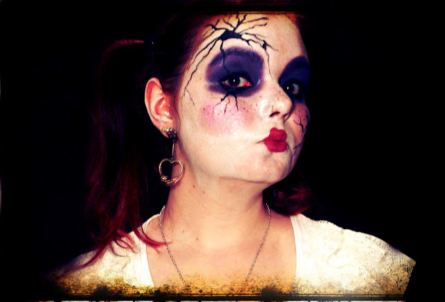 Maquiagem Broken Doll, halloween Boneca Quebrada