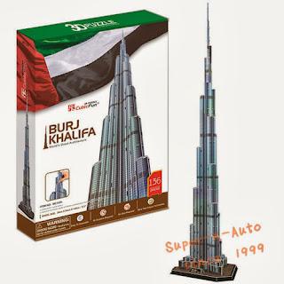 23D Puzzle Paper Model UAE Architecture Dubai Burj Khalifa DIY Jagsaw 136 Pcs