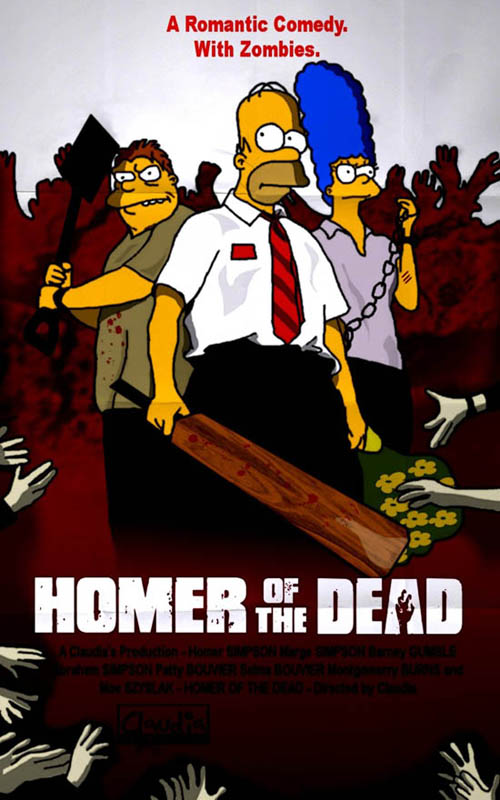 posters cinema simpsons - Down of the Dead