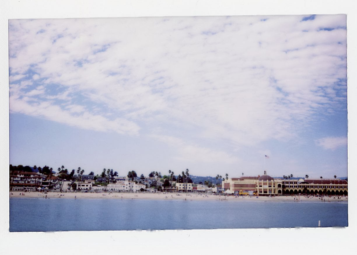 Instax 210 wide Santa Cruz beach
