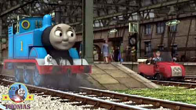 Knapford station Thomas the tank engine railcar Winston the Fat Controller happy birthday surprise