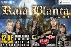 """RATA BLANCA EN EL """"CLUB SOCIAL ÁREA 4"""" (PARAGUAY) - 12/09/2014"""