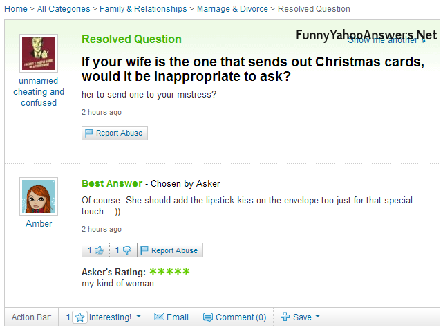 UselessHumor: Funny Yahoo Answers