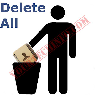how to delete all contacts iphone