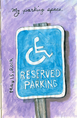 Handicap Sign drawing by ©Ana Tirolese