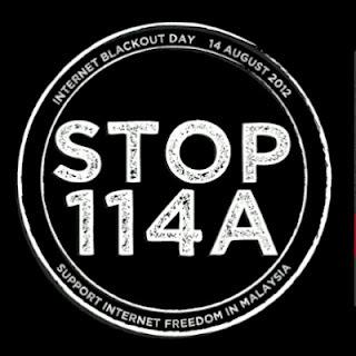 Eyriqazz vs Denaihati pindaan akta 114A Akta Keterangan 1950, pekembangan terbaru Kempen STOP 114A, komuniti internet bantah Akta, Backout Internet